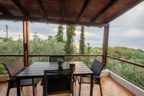 A balcony or terrace at Panageas Holiday Apartments