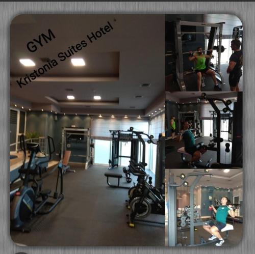 Фитнес-центр и/или тренажеры в Kristonia Hotel Suites
