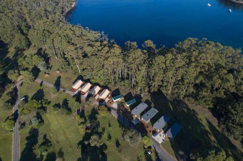 A bird's-eye view of NRMA Port Arthur Holiday Park