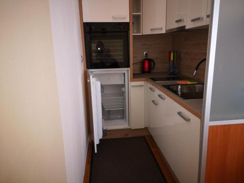 Кухня или мини-кухня в Apartment Oranžno Poletje Vila Golf