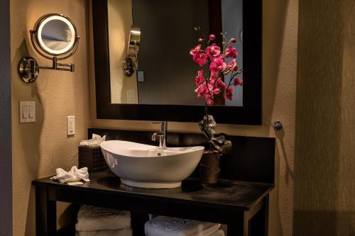 A bathroom at The Sofia Hotel
