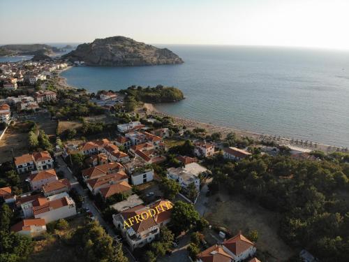 Άποψη από ψηλά του Afrodite Hotel Apartments