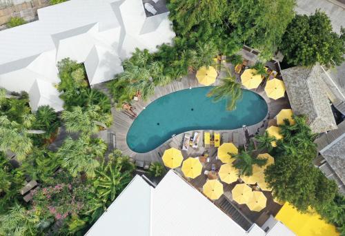A bird's-eye view of Hotel Villa Marie Saint Barth