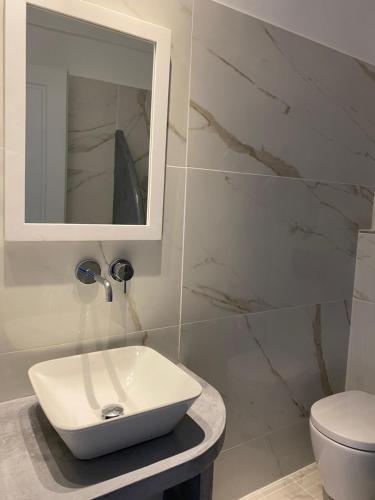 Ванная комната в Hotel Hellas