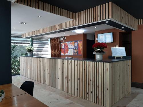 The lobby or reception area at Value Stay Brussels South