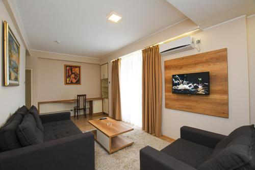 Prostor za sedenje u objektu Hotel Djerdap