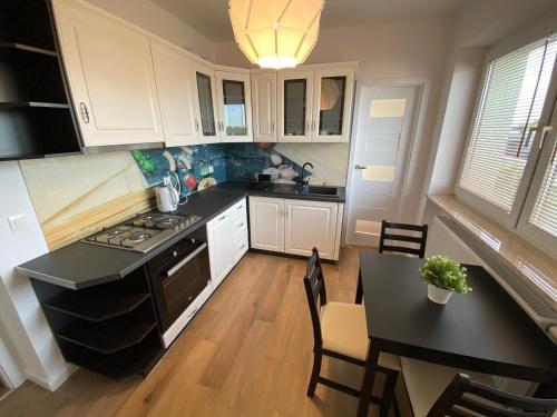 A kitchen or kitchenette at Apartamenty Starowiejska