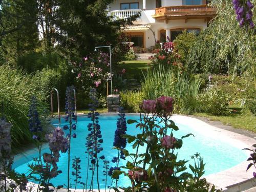 Het zwembad bij of vlak bij Landhotel Eva