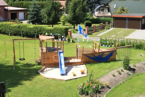 Children's play area at Spreewald Pension Tannenwinkel