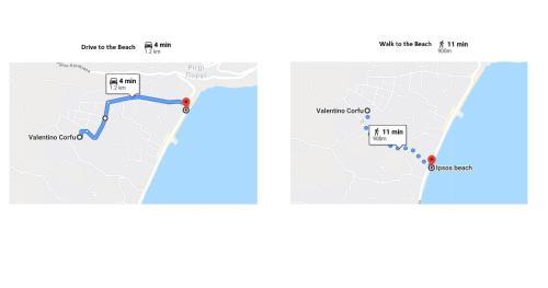 Grundriss der Unterkunft Valentino Corfu