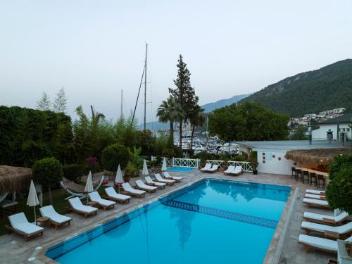 A view of the pool at Marina Boutique Hotel or nearby