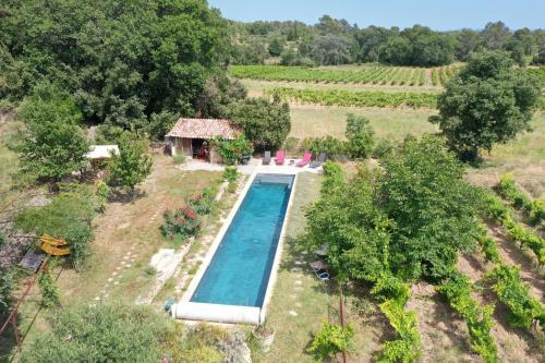A view of the pool at Les Vignes de Terrisse or nearby