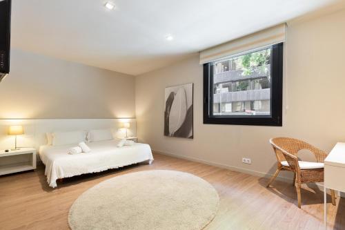 Cama o camas de una habitación en Ola Living Hostal Diagonal