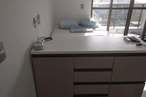 A kitchen or kitchenette at Flat/Studio Design Holandeses 12 andar