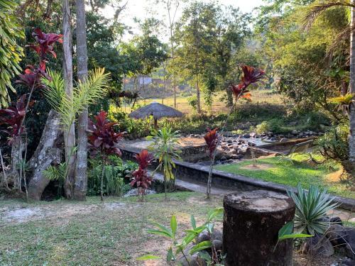 Um jardim em Pousada Penedo