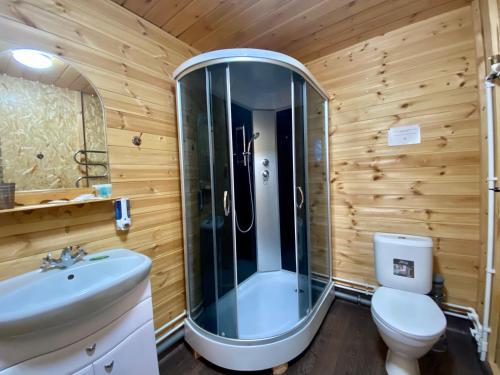 A bathroom at Baikal Terra Hotel