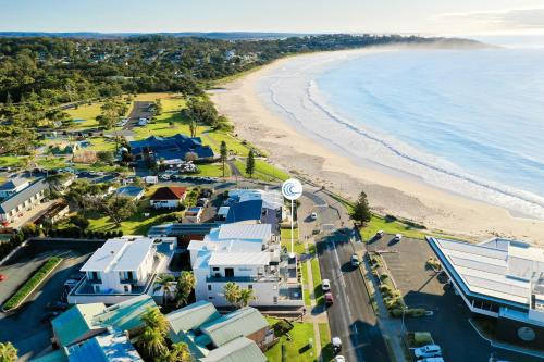 A bird's-eye view of Beachfront One, Mollymook