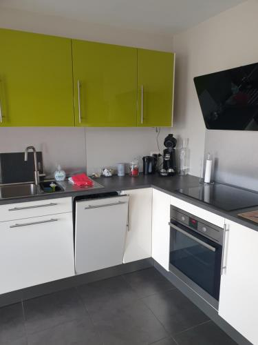 Küche/Küchenzeile in der Unterkunft Li Mangon