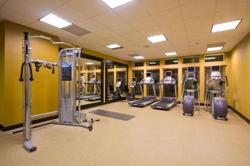 The fitness center and/or fitness facilities at Hilton Garden Inn South Padre Island