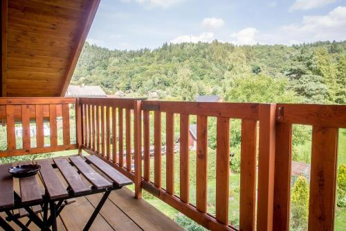 A balcony or terrace at Pension Rieger