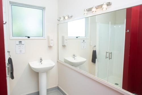 A bathroom at Haka Lodge Queenstown
