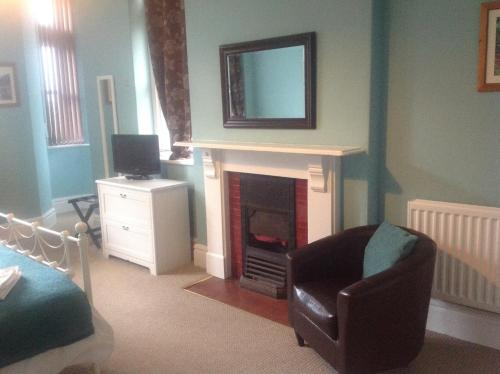 A television and/or entertainment centre at Portland House
