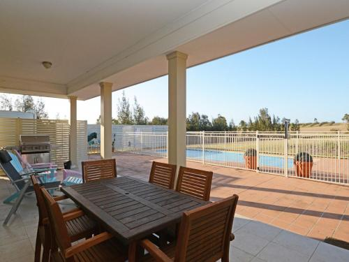 A porch or other outdoor area at Silver Springs 6br Luxury Homestead with Wifi, Pool. Fireplace, Views, Olives and Space