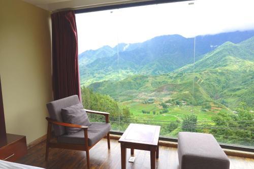 Zona de estar de Sapa Vista Hotel