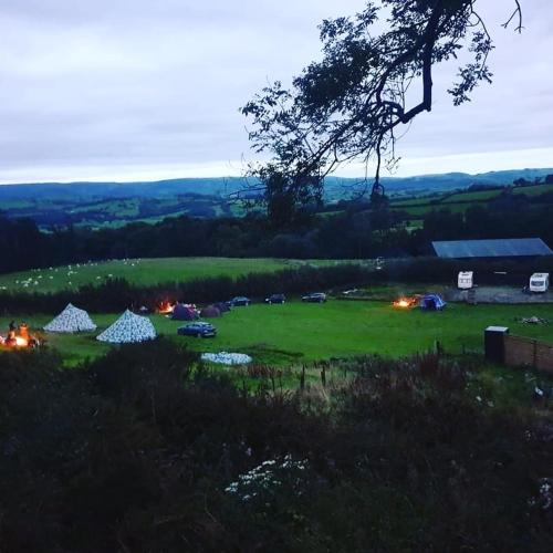 Bell tent wild camping Welsh valleys