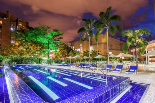 The swimming pool at or near NH Collection Medellin Royal