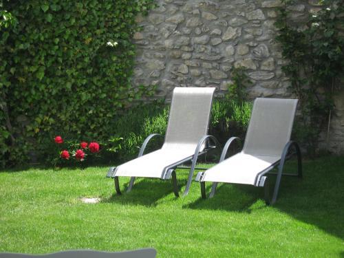 A garden outside La Maison Carolane