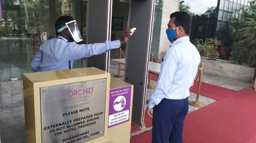 Members of staff at The Orchid Hotel Hinjewadi Pune