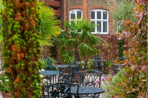 A patio or other outdoor area at Knightsbridge Roof Garden Rooms