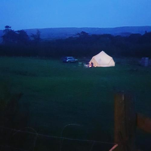 Large bell tent wild camping welsh valleys