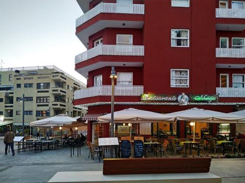 Patio nebo venkovní prostory v ubytování Hotel Maga