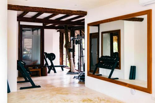 The fitness center and/or fitness facilities at Cabanas Tulum- Beach Hotel & Spa