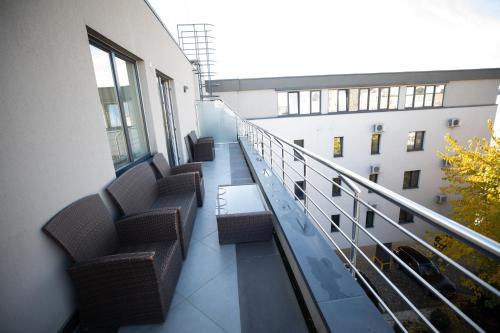 A balcony or terrace at Hotel Check Inn