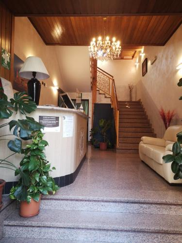 The lobby or reception area at Hotel Residence Sestriere