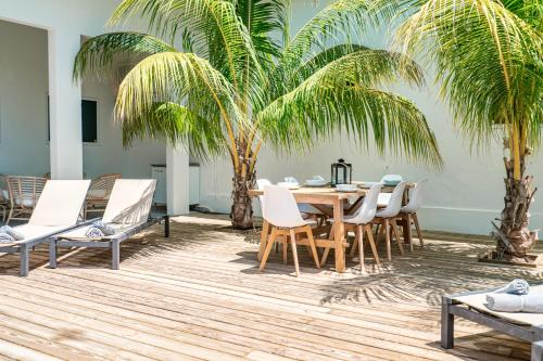Uma varanda ou outra área externa em Villa Zarza