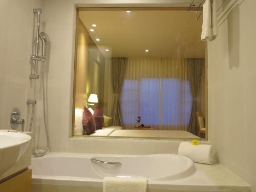 A bathroom at The Chancery Hotel