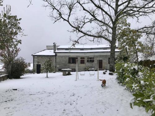 Casa da Lomba en invierno