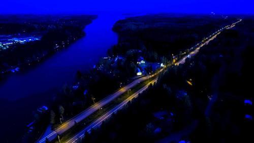 Letecký snímek ubytování Mansikkaharju Holiday Camp