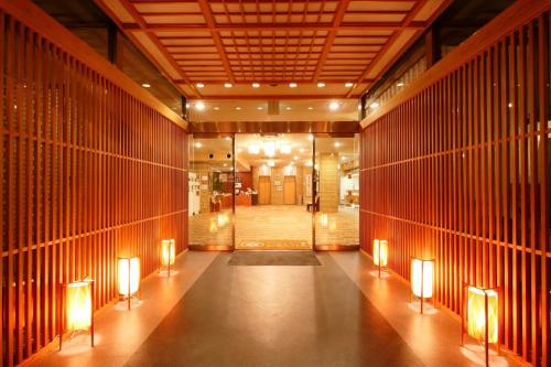 The lobby or reception area at Hotel OBANA
