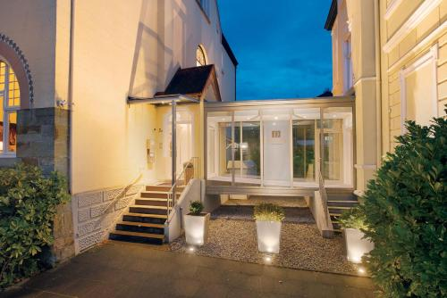 A patio or other outdoor area at Boutiquehotel Dreesen - Villa Godesberg