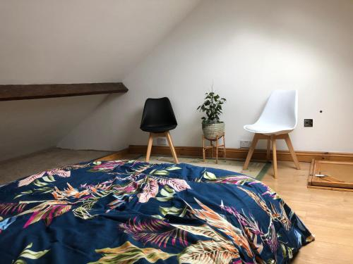 Single room with air bed in a house with shared kitchen and shower