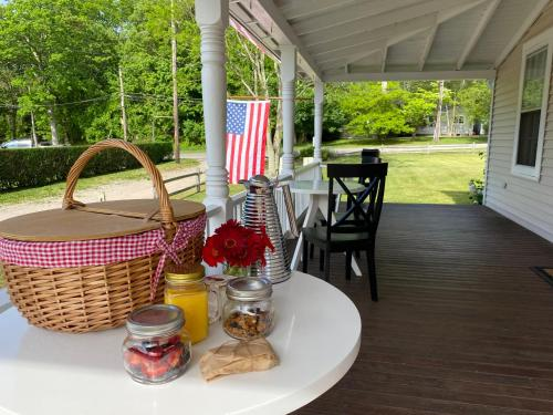 A porch or other outdoor area at Seven - a boutique B&B on Shelter Island