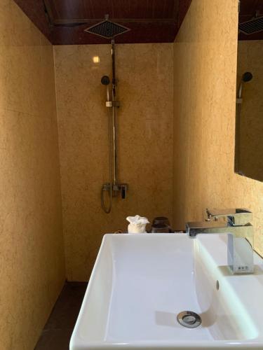 Salle de bains dans l'établissement Eco Palms House - Sapa Retreat