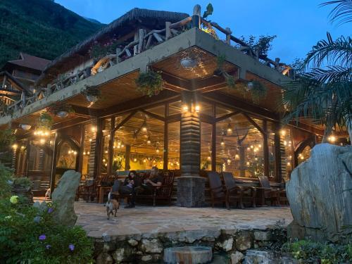 Terrasse ou espace extérieur de l'établissement Eco Palms House - Sapa Retreat