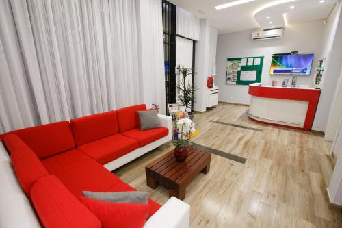 The lounge or bar area at Flats Andira Kuss