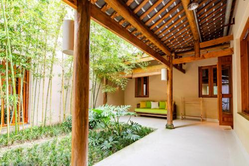 A porch or other outdoor area at Six Senses Qing Cheng Mountain